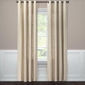 Spacedye Grommet Curtain Panel (Tan)
